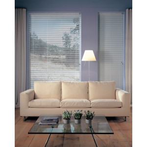 Persiana Horizontal Alumínio 16mm Sunset Branco Glacê 1,60 x 1,60 - Hunter Douglas