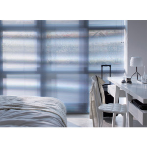 Persiana Horizontal Alumínio 25mm Sunset Branco Glacê 1,60 x 1,60 - Hunter Douglas